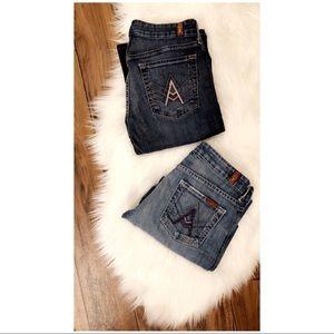 7 for All Mankind A Pocket Jeans size 27 bundle